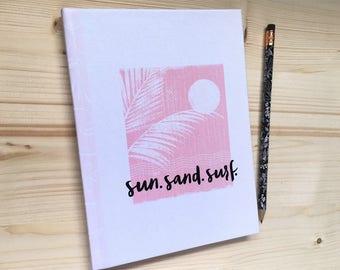 Customizable_Hard Cover Beach Journal