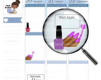 Nail Polish, Manicure Planner Stickers, Nail Polish Stickers, Appointment Stickers, Mani Pedi Sticker, Manicure Stickers, Nail Polish