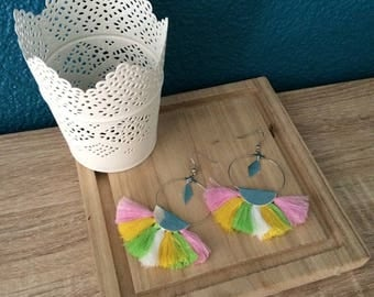 Tassel earrings multicolor