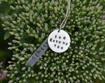 God Gave Me You Handmade Custom Date Necklace