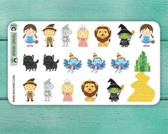 18 Wizard of OZ Stickers / Planner Stickers / Decorative Stickers