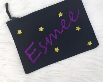 Personalised Make Up Bag, Pencil Case, Magical Pencil Case, Teacher Gift, UK