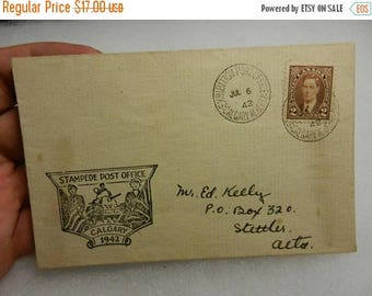 Easter Sale Vintage WW2 1942 Calgary Exhitition Post Office Stampede Post Office  Postal History