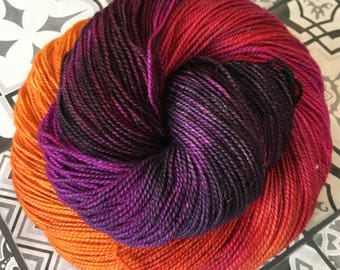 Saree - Hand Dyed Sparkle Yarn - 75/20/5% Superwash Merino Nylon Sparkle - 100g 400m - Sock