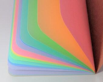Rainbow Midori / Fauxdoir Traveler's Notebook Inserts - Traveller's Refill Passport/Regular/Personal