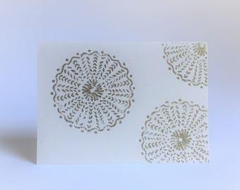 Gold Marigold Greeting Card