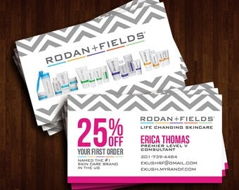 Rodan + Fields Business Cards, Promotional Discount, R+F Consultant