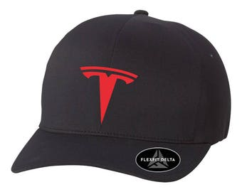 TESLA Electric Car Model 3 Model S DELTA Flex Fit Hat ***Free Shipping in BOX***