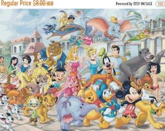 "Disney panoramic Counted Cross Stitch Disney panoramic pattern needlepoint kreuzstichvorlagen - 27.57"" x 20.64"" - L873"