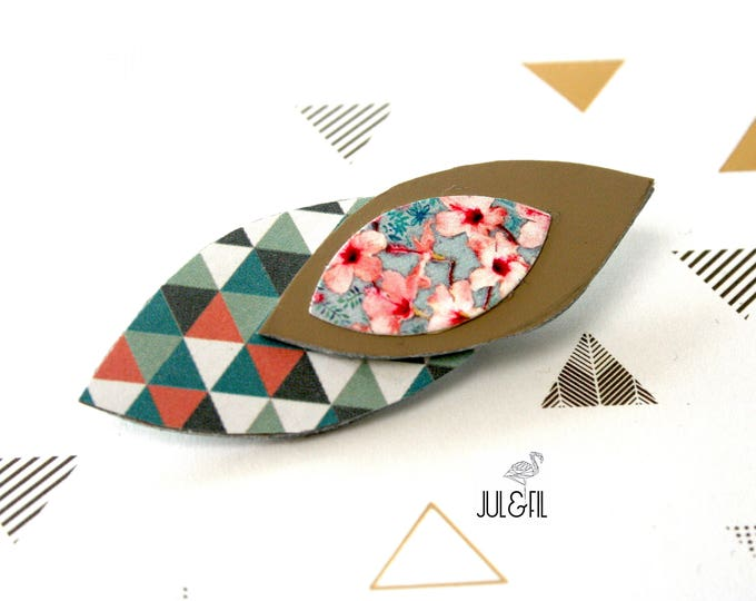 Brooch leather graphic shuttles