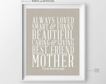 Mom Birthday Gift Christmas Gift for Mom Gift Mother Gift for Mothers Day Gift Mother of the Bride Gift Wedding Gift for Mom