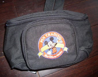 Vintage Embroidered Mickey Pin Trading Fanny Pack with Two Pins