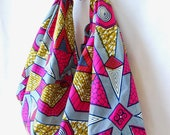 African wax print cotton furoshiki tote bag