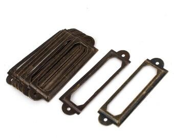 porte étiquettes métal bronze scrapbooking cartonnage
