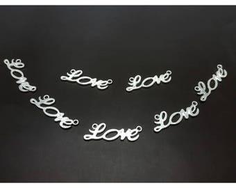 35 connectors links Love 33x10mm
