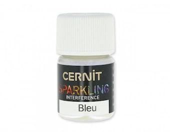 For polymer Cernit Sparkling blue interference mica powder