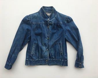 Vintage Denim Jacket / Jean Jacket Women's xs / s