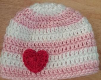 Newborn Valentines Day Hat