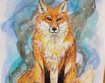 Magic fox painting