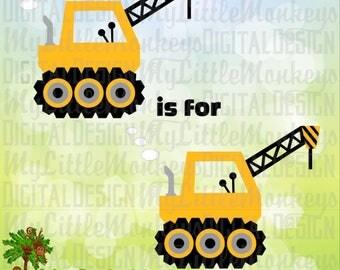 Kids SVG ~ Construction Birthday svg ~ Construction svg ~ Crane SVG ~ Commercial Use SVG ~ Clip Art ~ Cut File, svg, eps, dxf, png, jpg