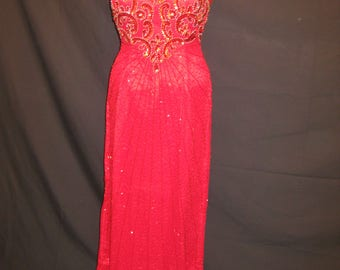 Long gown in Red#2460