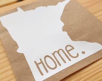 Minnesota Home Decal, Laptop Decal, Car Decal