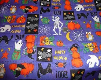 1 7/8 Yards VIP Cranston Happy Halloween Fabric