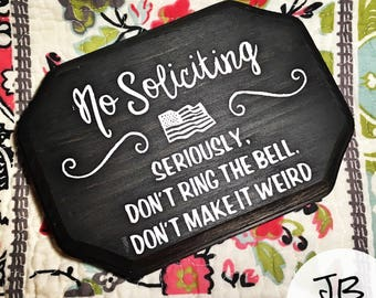 No Soliciting (American Flag Detail)