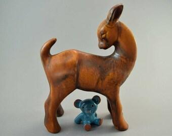 Vintage ceramic deer / Ruscha | West German Pottery | 60s