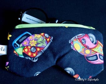 VW Beetle Bug Glasses case. Handmade.