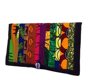 Travel wallet Passport holder Travel organizer Passport wallet Passport organizer Passport case Patchwork wallet African print wallet