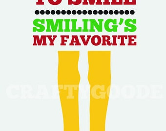 Smiling's My Favorite Printable Sign | 11x14