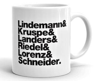 Band Line-Up Mug: Rammstein (Ships within Australia)