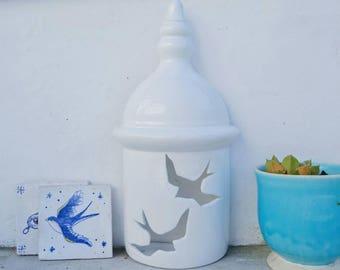 "Ceramic lantern ""swallows"""