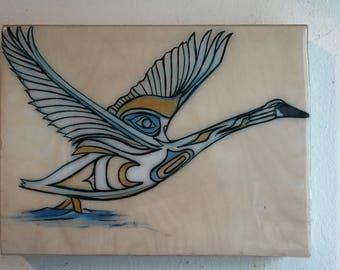 Trumpeter Swan Resin Print