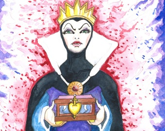 The Evil Queen Matted Print