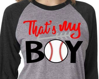 SALE- Thats my boy svg -  SVG, DXF, Eps, png Files for Cutting Machines Cameo or Cricut - baseball clip art - cute baseball svg - baseball s