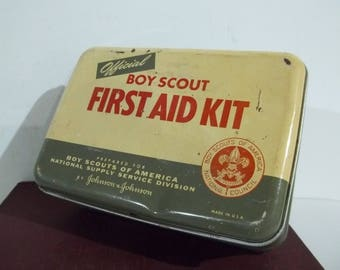 Vintage Boy Scout First Aid Kit - FREE SHIPPING!!!