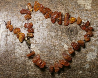 B9 - natural, raw, dark amber bracelet