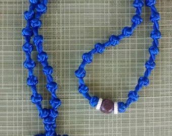komboskini/orthodox prayer rope 50 knot- navy blue