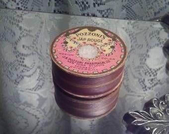 Antique Pozzoni's Rouge Powder Box