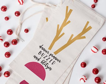 Holiday Humor, Christmas Gift, Wine Bag, Wine Present, Alcohol Gift Wrap, Funny Gift, Unisex Present, Gift under 15, Easy Gift, Secret Santa