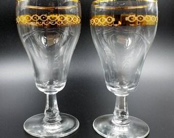 Libbey Glass Victoria Pattern Goblets, Unit R