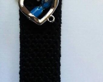 Handmade crochet lightercozy set : peacock o'clock. Nice gift for a lover or good friend.