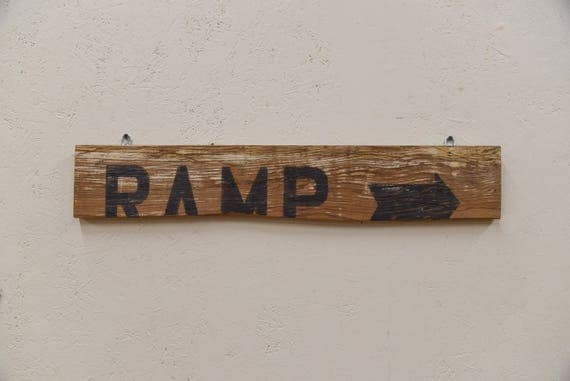 Farmhouse Decor, Ramp Sign, House Gift, Rustic Decor, Rustic Wood Sign, barn wood lover, Indoor Outdoor, barn wood sign, Farmhouse sign,