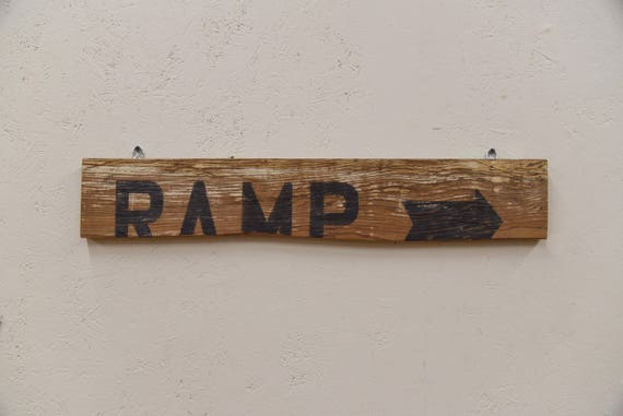 Hand painted 'Ramp' barn wood sign, farmhouse chic, rustic decor, farmhouse sign, housewarming gift, home sweet home, gift for her, handmade