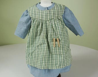 American Girl Addy Work Dress, Apron and Clothespins