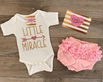 Little Miracle Newborn Baby Sparkle Onesie