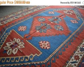 FUTHER SALE 40% DISCOUNT Antique Star Kazak Caucasian Rug