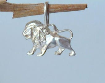 Sterling Silver Leo Zodiac Pendant, Leo Horoscope Pendant, Astrological Leo, The Leo Zodiac Sign, Constellation Sign Charm, Lion Pendant